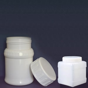 Plastic White Tablet Containers