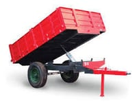 Red Hydraulic Trailer