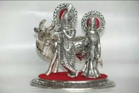Oxidized Metal Radha Krishna Idol