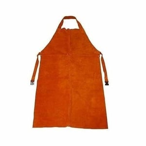 Industrial Red Leather Apron