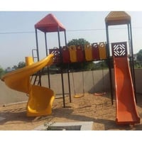 Children Playground Frp Slide And Swing