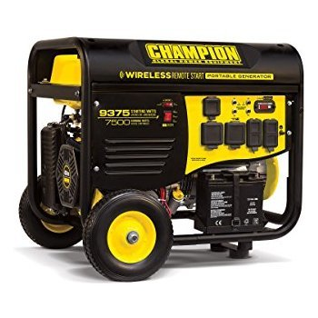 100161 - 7500 Watt Electric Start Generator W/ RV Plug & Wireless Remote (Champion)