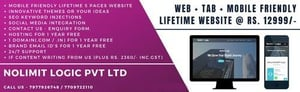 Responsive Static Html Lifetime Website With Domain, Hosting And Unlimited Brand Email Id's For 1 Year