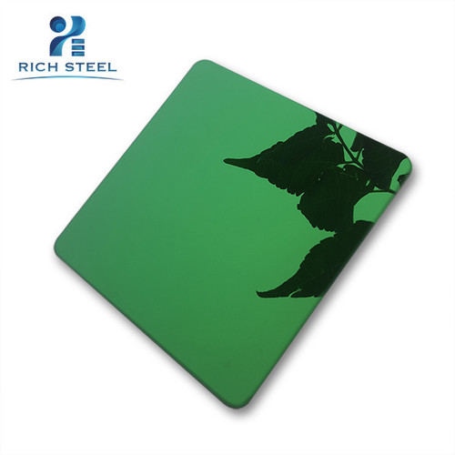 Colored Mirror Green Cold Rolled Steel Sheet For Elevator Door