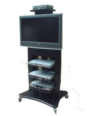"""Wooden VC TV Trolley for 32"""" - 55"""""""