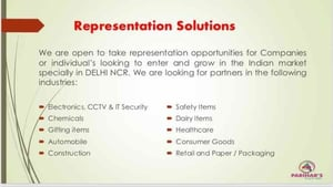 Customized Industrial Representation Services