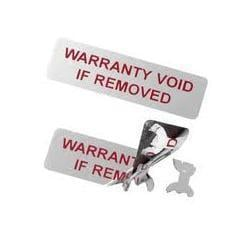Plain And Printed Warranty Labels