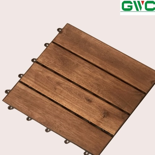 Durable Outdoor Wood Decking Tile/ Cheap Vietnam Interlocking Flooring