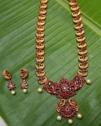 Copper Brass With Gold Plated Imitation Necklace Set