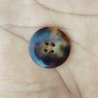 Natural Polished Horn Buttons