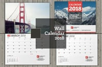 Printed Rectangular Wall Calendar
