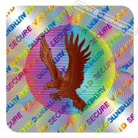 Eagle Security Hologram Sticker