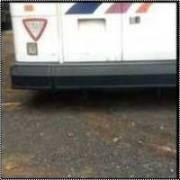 Bus Rear Iron Bumper