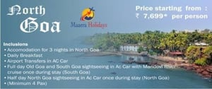 3 Nights Goa with Maaera Holiday Tour Package