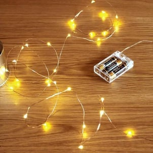 Decorative Copper String 100 LED Light, USB Operated Wire for Diwali, Christmas