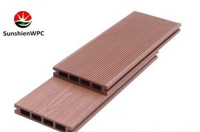 Sunshien Wpc Hollow Decking For Floor Cover Outdoor Waterproof