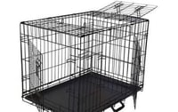 Black Powder Coating Steel Wire Dog Crate