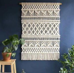 Macrame Wall Hanging For Home And Living Room Decoration