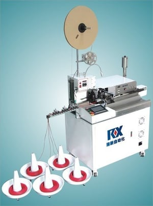 Ultra-High Speed Automatic Wire Crimp And Tin Dip Machine
