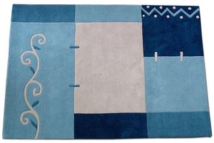 Woven Color Plates Hand Tufted Carpets
