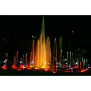 Musical Water Fountain With Multicolor Programmable Lights