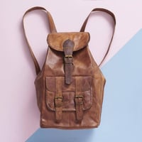Large Pure Leather Backpack