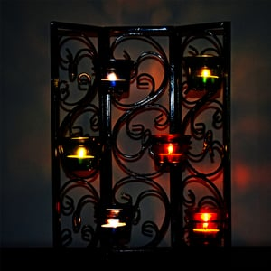 Wall Sconce Wall Hanging Twisted Petals Tea Light Candle
