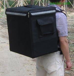 Black Color Food Delivery Bags
