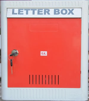 Red Color Letter Box