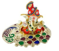 Handicraft Car Dashboard Ganesha