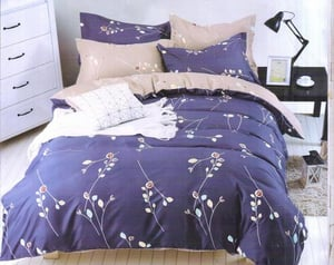 Printed King Size Bed Sheets With Two Pillow Covers