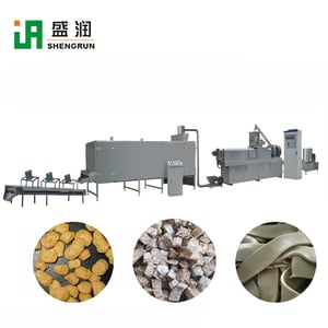 Soybean Extruder Machine Textured Soya Nuggets Processing Plants Line