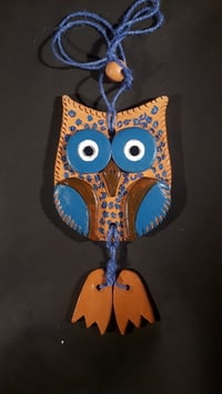 Terracotta Wall Hanging (Owl) Handpainted Home Decorative Wall Hanging