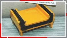 Injection Moulded Composite Elastomeric Pad