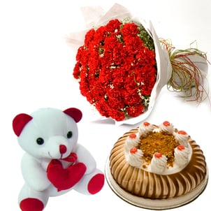 Cakes And Gifts For Love And Romance