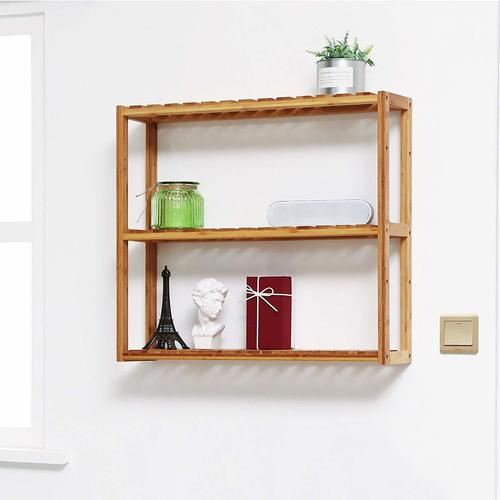 Adjustable Shelf Rack Multifunctional Wooden Rack 3-Tier