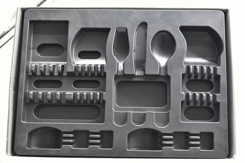 Plastic Blister Packaging Tableware Container Flocked Tray