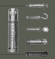 Four Shield Anchor Fasteners
