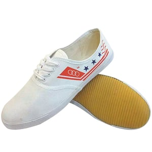 White Canvas Sneaker Shoes