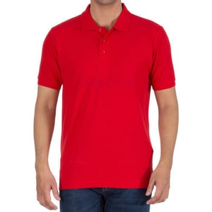 Mens Collar Red Color T-Shirt