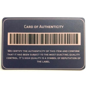 Fine Quality Barcode Card