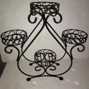 Handcrafted Plant Pot Iron Stand