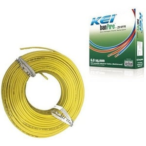 Yellow Color Insulated PVC Cable (KEI)