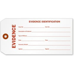Rectangle Paper Identification Tags