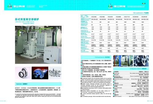 Horizontal Double Chamber Vacuum Carburizing Furnace