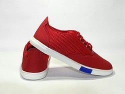 Red Casual Canvas Shoes