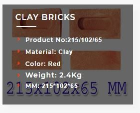 2.4 Kg Red Clay Brick