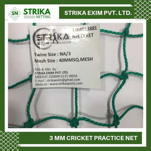 3 Mm Cricket Practice Net Nylon (Green)