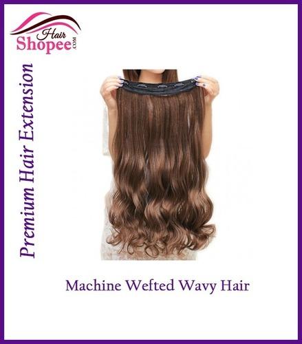 Machine Wefted Wavy Hairs - Hairshopee