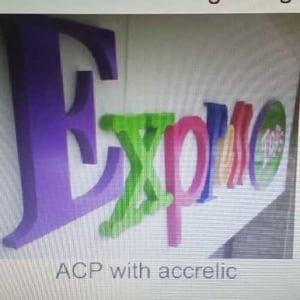 Acp Sign Board With Accrelic